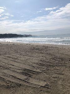 神奈川の お話し 教えて下さいませんか? あきさん 今日の由比ヶ浜です。