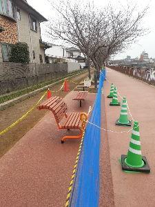 漢字でしりとり 脚線美  まりぶぅの為に在る言葉カナ!!  まりぶぅ、コンバンハヽ(^o^)丿  散歩道にベンチが!