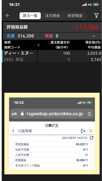 2432 - (株)ディー・エヌ・エー 65千円利確してまだ含み益が30千円あるぞ😺