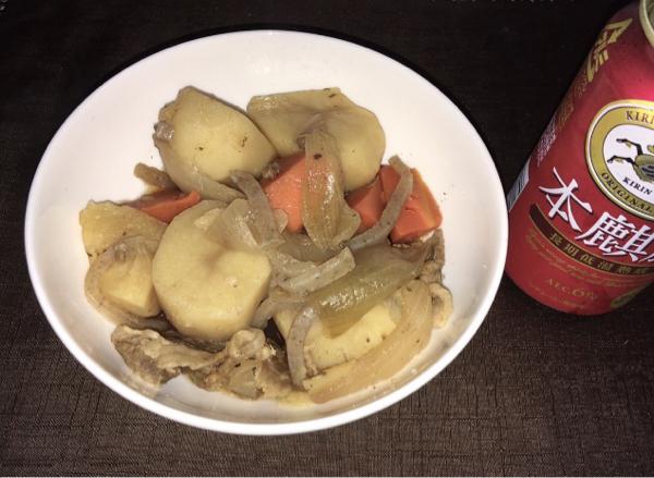 2432 - (株)ディー・エヌ・エー 今日は肉じゃがを作ってみたよ。  オレって料理の才能があるかも☺️