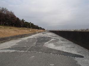 遊びながら正義の山を探してみよう^^ >海岸線は、こんな風な、護岸がずーっと続いていて、  >ときどき鯨が道路に打ち上げられていました(次