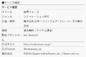 3851 - (株)日本一ソフトウェア クローバーラボのニュースリリースに 「企画・開発: 株式会社 日本一ソフトウェア / クローバーラボ