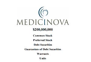 4875 - メディシノバ P18から「2億ドル」の発行枠の話っぽいですが、これは以前、「申請」していたものが、「承認」されたと