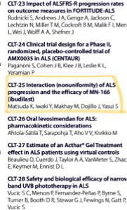 4875 - メディシノバ International Symposium on ALS/MND in Perthのプログラム見