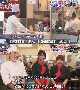 3053 - (株)ペッパーフードサービス 富山では人不足なため人件費がかかるようです。昨夜のWBSより。