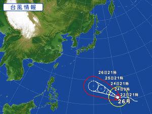 *(-s-)*・・ぺったんこ!! 台風🍃🌀☔