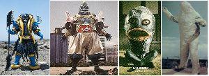 ■特撮界 悪のヒーロー■ 海の妖怪、海坊主(ウミボウズ)。 左から、「手裏剣戦隊ニンニンジャー」「忍者戦隊カクレンジャー」「妖