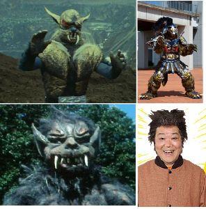 ■特撮界 悪のヒーロー■ 狼男4態。  左上から「仮面ライダー」の狼男、左下、「変身忍者嵐」の狼男、右上、「手裏剣戦隊ニンニン