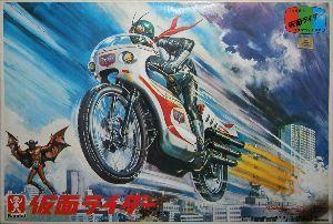 ■特撮界 悪のヒーロー■ ちなみに小松崎先生は本家のライダープラモの箱絵も描いてますね。