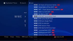 """4334 - (株)ユークス WWE2K18 RT。 How to get """"#NXT Generation Pack&"""