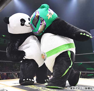 4334 - (株)ユークス 名前:アンドレザ・ジャイアントパンダ 年齢:不明 身長:3メートル 体重:体重500kg 出身:中国